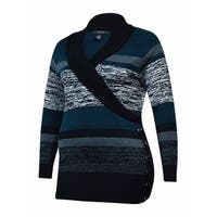 Style & Co. Women's Ribbed V-Neck Stripe Sweater