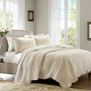 Link to Madison Park Marino Reversible Scalloped Edge Coverlet Se Similar Items in Quilts & Coverlets