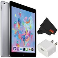 Apple 9.7 Inch iPad (Early 2018 Version, 32GB, Wi-Fi Only, Space Gray) MR7F2LL/A - Essential Bundle