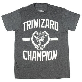 Harry Potter Triwizard Champion Mens Charcoal Heather T-shirt