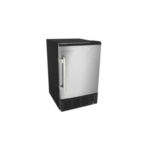 """EdgeStar IB120 15"""" Wide 6 Lbs. Capacity Built-In Ice Maker with 12 - Stainless Steel and Black"""