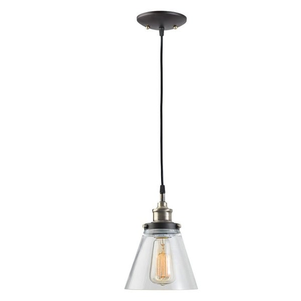 Globe Electric 64750 Vintage Edison Pendant - antique brass and brown