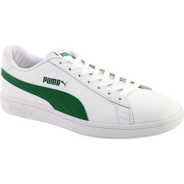 4d75cd566b774 Shop PUMA Men's Smash V2 L Sneaker Puma White/Amazon Green - On Sale ...