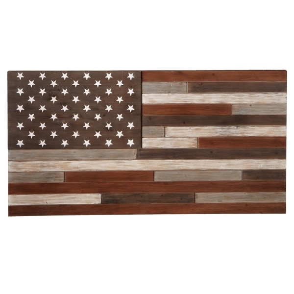 Shop Set of 2 Patriotic United States Of America Red and Blue Slat ...