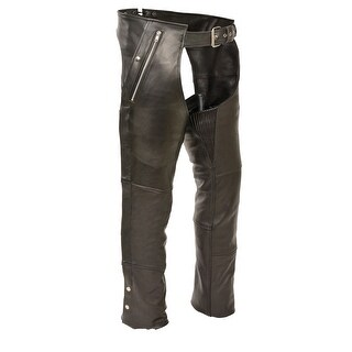 Mens Leather 4 Pocket Thermal Lined Chaps (More options available)