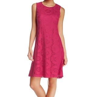 Eliza J NEW Pink Fuchsia Women's Size 8 Sheath Lace Keyhole Dress
