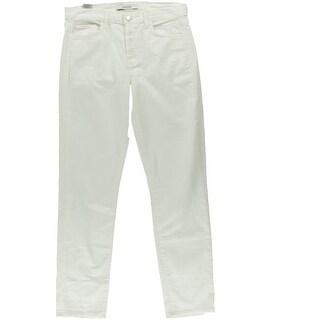 J Brand Womens Solid White Boyfriend Jeans - 26