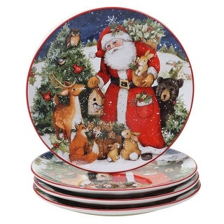 Link to Certified International Magic Of Christmas Santa 11-inch Dinner Plates (Set of 4) Similar Items in Christmas Entertaining