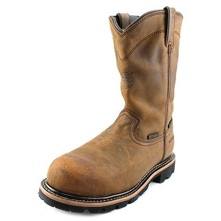 Justin Boots WK4630 Men 2E Round Toe Leather Brown Work Boot