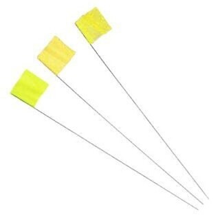 Irwin 2034205 Strait-Line Yellow Stake Flags 100 Pc