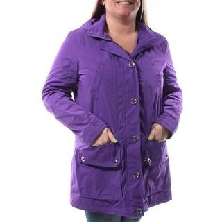 $275 RALPH LAUREN Purple Rain Coat Coat L B+B