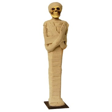 Standing Mummy 2 Foot Prop With Red Light Up Eyes
