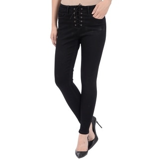 Lola Dahlia-BLK, high-rise ankle with 4-way stretch