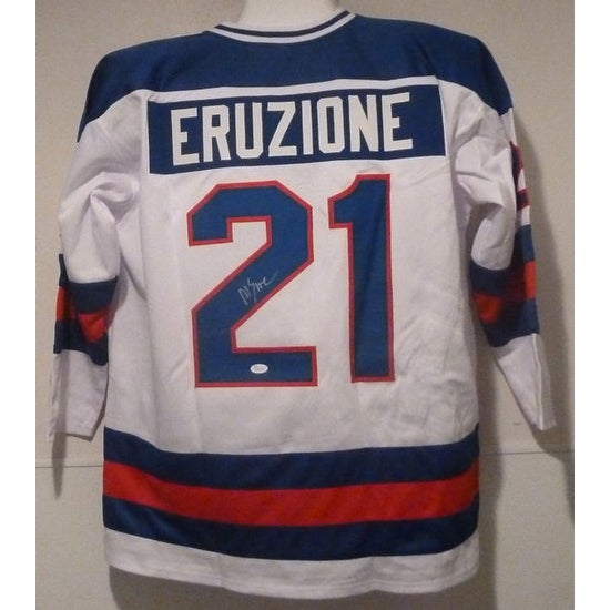 Shop Mike Eruzione Autographed White size XL Miracle on Ice jersey ... bd84c168e