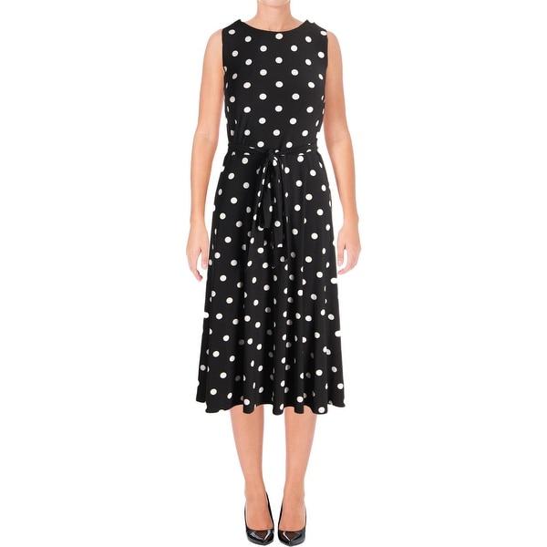 Lauren Ralph Lauren Womens Casual Dress Polka Dot A-Line