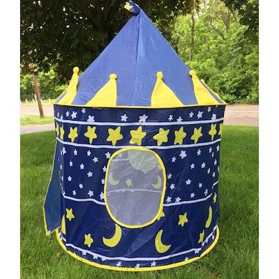 "41""Portable Play Tent Children Kids Castle Cubby Play House Blue"