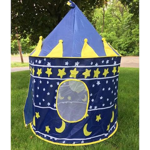 Portable Folding Blue Play Tent Children Kids Castle Cubby Play House