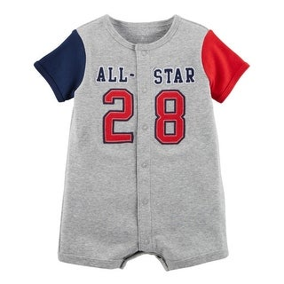 Carter's Baby Boys' All-Star Snap-Up Cotton Romper - Blue/Gray/Red