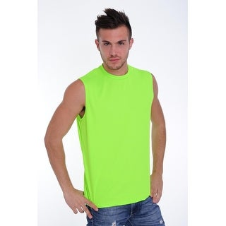 Men's Dri Fit Sleeveless Shirt Open Side Racer Back Gym Workout Rib Ringer Muscle Top