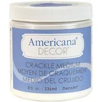 Clear - Americana Decor Crackle Medium 8Oz