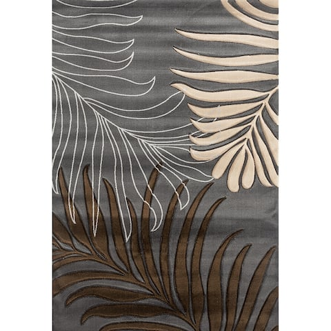 Glamour Dark Brown/Black Polypropylene Area Rug