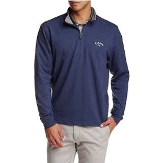 Callaway NEW Blue Mens Size Large L Mock-Neck 1/2 Zip Pullover Sweater