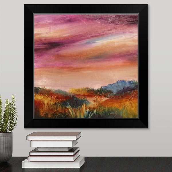 """Going Softly"" Black Framed Print"