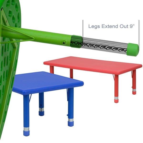 35 Wx65 L Half Moon Plastic Adjustable Activity Table School Table For 8 Overstock 10055908