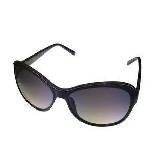 Kenneth Cole Reaction Sunglass Black Butterfly Plastic, Gradient Lens KC1234 1B - Medium