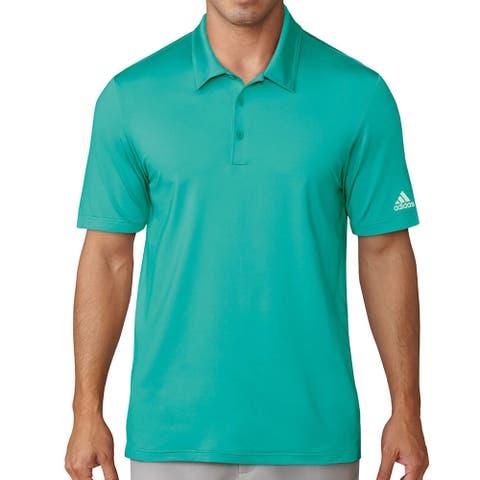 Adidas Climalite Jacquard Solid Polo Golf Shirt