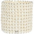 D'AMA 10 Strand Freshwater Cultured Pearl Womens Stretch Bracelet With Stainless Steel Beads - Thumbnail 6