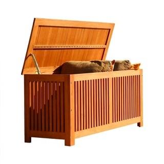 Vifah V513 Bresa 50 Inch Wide Eucalyptus Storage Box - N/A