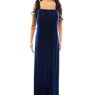 R&M Richards NEW Blue Women's Size 10 Empire Waist Sequin Dress