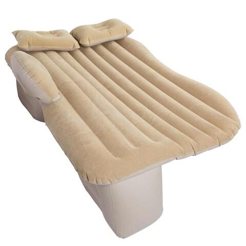 Winterial Back Seat Inflatable Car Camping Travel Mattress, Car Mattress, Camp, Travel, Twin (Tan)