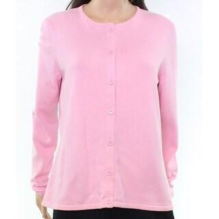 Foxcroft NEW Pink Women's Size Medium M Button-Down Cardigan Sweater