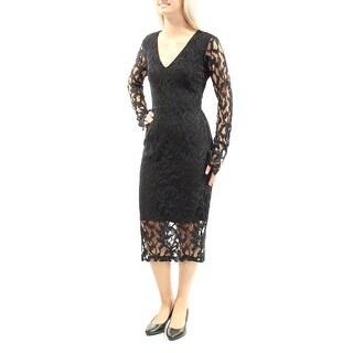 RACHEL ROY $179 Womens New 1227 Black Floral Lace Sheath Dress 0 Petites B+B