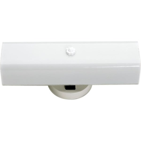 "Nuvo Lighting 77/087 2-Light 14"" Wide Bath Bar with Frosted Glass Shade - White"