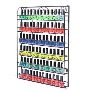 Link to 6 Tier Metal Nail Polish Display Organizer Wall Rack Holder - Black Similar Items in Nail Care