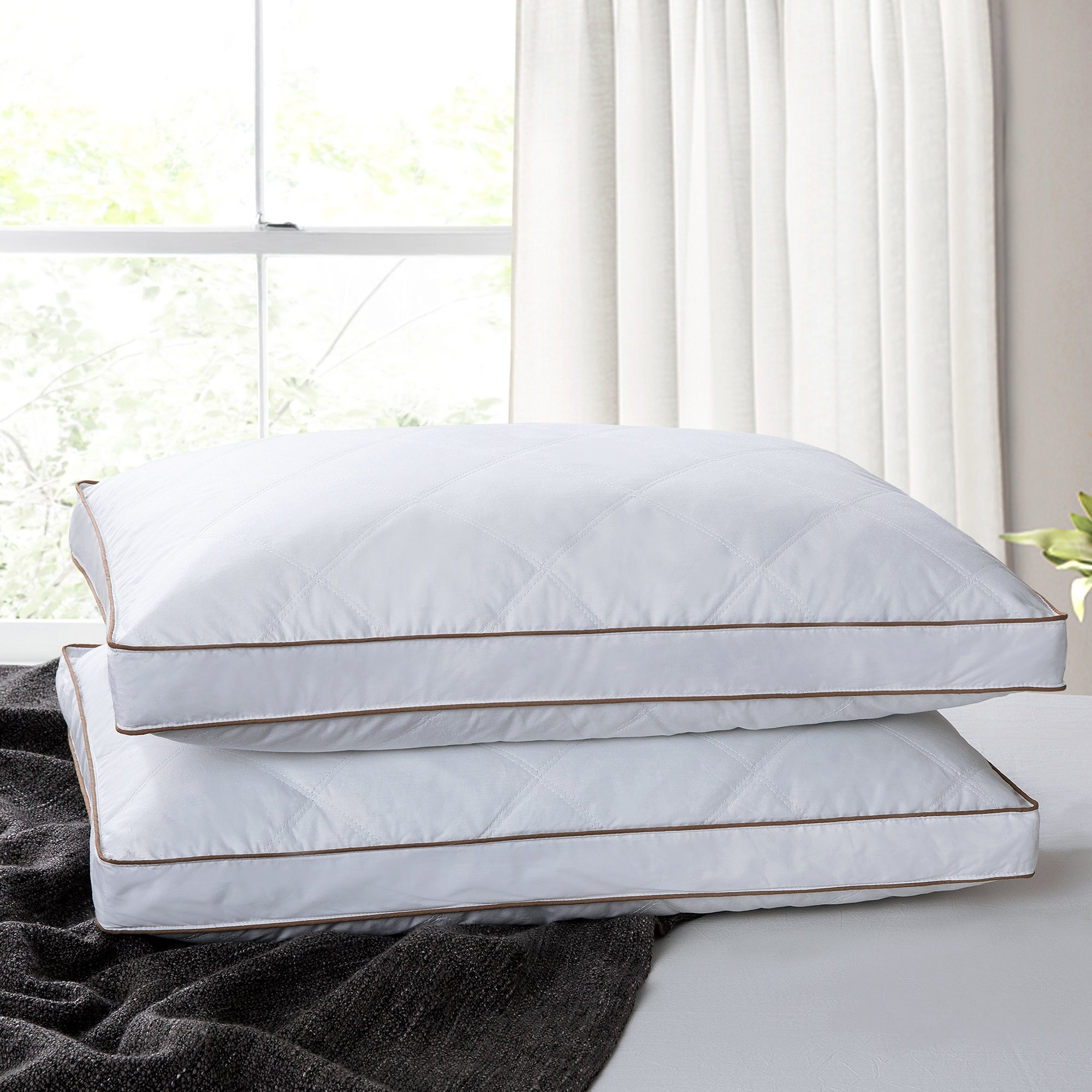 Down Alternative Pillows Gusseted Pack of 2 Bed Sleeping Pillow Queen King Size