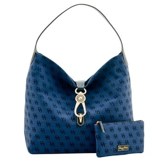 Dooney & Bourke Madison Signature Logo Lock Sac Bundle (Introduced by Dooney & Bourke at $248 in Jul 2016) - Navy|https://ak1.ostkcdn.com/images/products/is/images/direct/99452a6147a658cb3bf04daa2b972b35cb81e6e5/Dooney-%26-Bourke-Madison-Signature-Logo-Lock-Sac-Bundle.jpg?impolicy=medium
