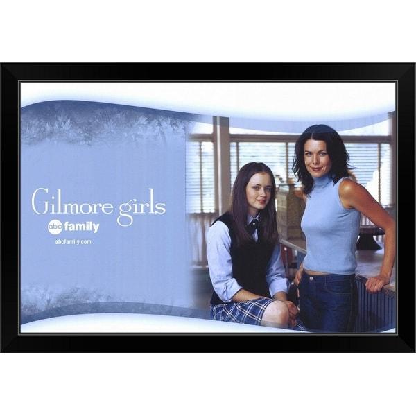 """""""Gilmore Girls (TV) (2000)"""" Black Framed Print"""