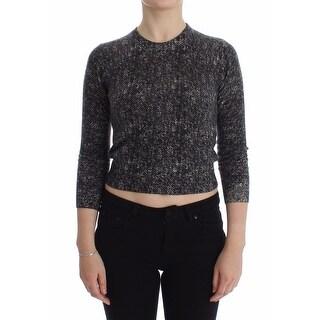 Dolce & Gabbana Dolce & Gabbana Gray Cashmere 3/4 Sleeve Sweater Pullover