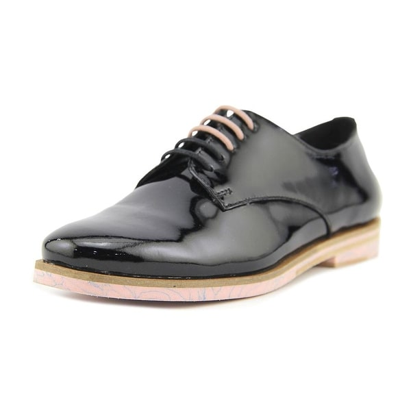 Ted Baker Loomi Women Round Toe Patent Leather Black Oxford