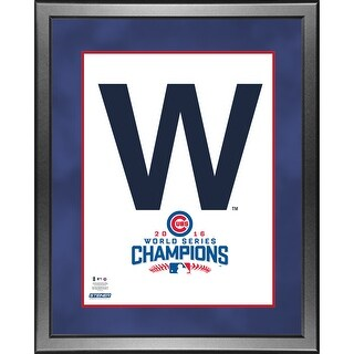 Chicago Cubs The W 2016 World Series Unsigned Matted 8x10 Photo