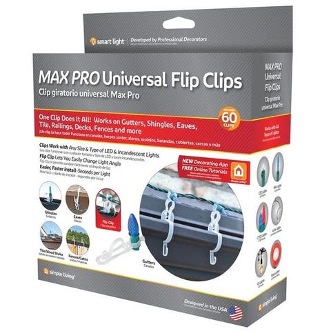 Simple Living 714060 Max Pro Universal Flip Clips For Christmas Lights