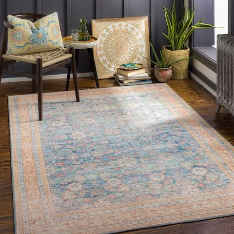 Petrova Persian Floral Printed Area Rug