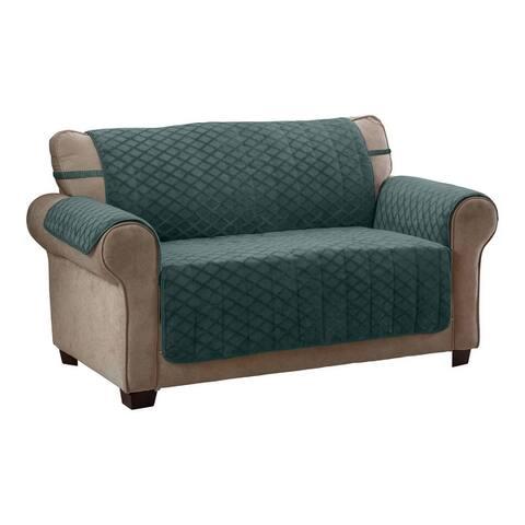 Fairmont Diamond Plush Loveseat Furniture Cover