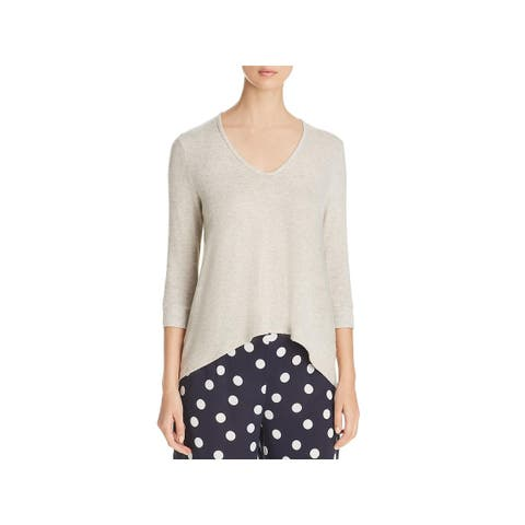 Three Dots Womens Pullover Sweater Brushed Hi-Low