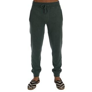Dolce & Gabbana Dolce & Gabbana Green Cashmere Training Pants