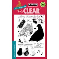 """Hero Arts Clear Stamps 4""""X6""""-Color Layering Partridge"""